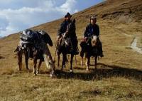 Rieferhof in den Dolomiten in Villnöss, Eisacktal Südtirol: Western Wanderreithof Wanderreitstation