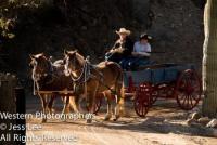 Zurück in die Vergangenheit mit der Kutsche nahe dem historischen Wickenburg- Reiturlaub in Arizona!