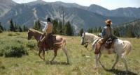 Reiten in den Rocky Mountains im Taos Ski Valley im Norden New Mexicos, USA!