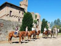 Wander- und Geländeritte in der toskanischen Hügellandschaft 'Crete Senese' nahe Montalcino, Siena!