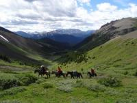 Pferdeguide-Training auf einer Westernranch in British Columbia, Kanada