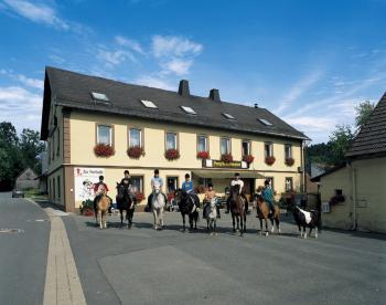 Ferien-/ Urlaubsbetrieb, Wanderreitstation, Reiterhof, Ponyhof, Reiterpension, Kinderferienbetrieb in Marktleugast