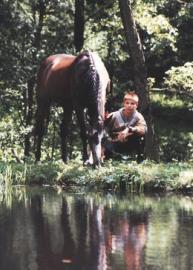 Kimba am Teich