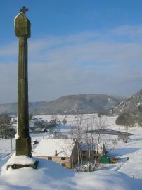 Von unserem 'Hausberg' im Winter