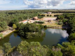 Blick von unserem Staussee über die Quinta
